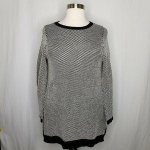 Charter Club Sweaters - Charter Club Black White Knit Tunic Sweater